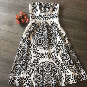 White House Black Market dress strapless silk 4